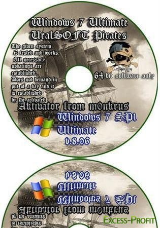 Windows 7x64 Ultimate UralSOFT Pirates v8.06