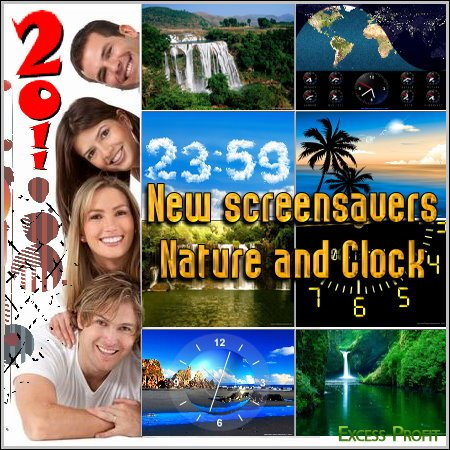 New screensavers - Nature and Clock (2011)