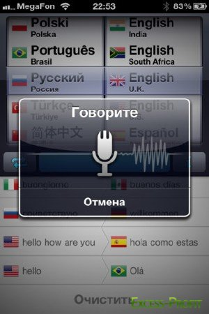 Голосовой толмач (Speech Translator) v1.3[iPhone/iPod Touch]