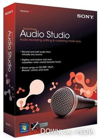 Sony Sound Forge Audio Studio 10.0 Build 177 ML/Rus