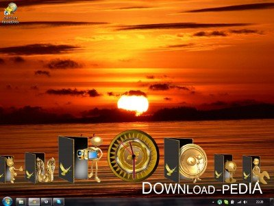 Golden folders + RocketDock v1.3.5
