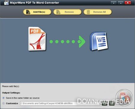 Majorware PDF to Word Converter 4.0.0.0