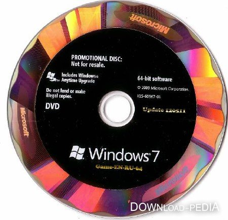�� Microsoft Windows 7 Game-EN-RU-64, Lite Update 120511 (2012/RUS)