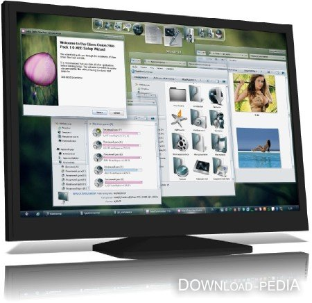 Glass Onion Skin Pack 1.0 for Windows 7 (ML/RUS) 2012
