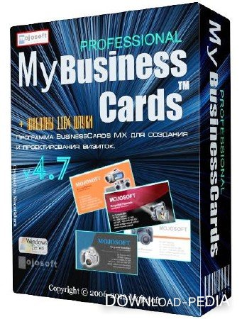 Mojosoft BusinessCards MX 4.7 (2012) ML + ������� 1164 ��