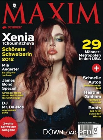 Maxim Switzerland - November 2012