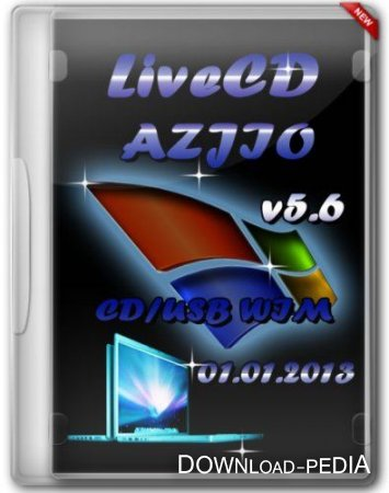 LiveCD AZJIO v5.6 от 01.01.2013 CD/USB WIM