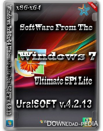 Windows 7 Ultimate Lite UralSOFT v.4.2.13 (x86/x64/2013/RUS)