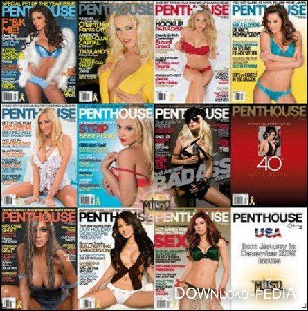 Penthouse USA – Full Year 2009 Issues Collection