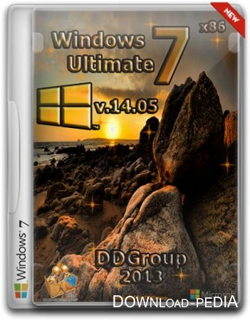 Windows 7 Ultimate SP1 x86 by DDGroup v.14.05 (RUS/2013)