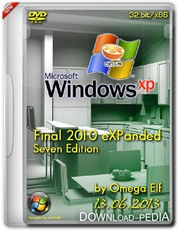 Windows XP SP3 Final 2013 eXPanded Seven Edition by Omega Elf (x86/RUS/13.06.2013)