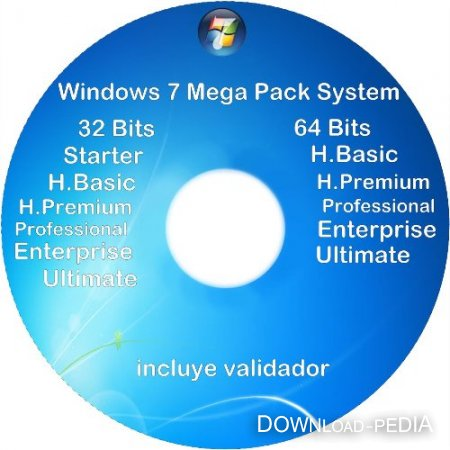 Windows 7 VL Service Pack 1 All Version x86/x64 6.1 Build 7601 Rus