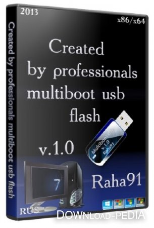 Created by professionals multiboot usb flash v.1.0 (RUS/2013)