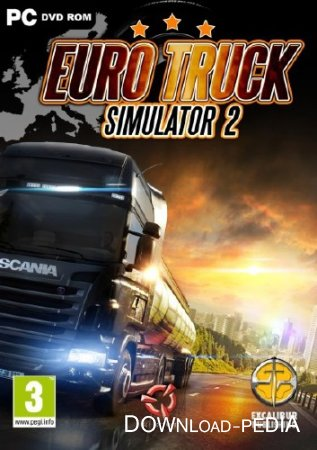 Euro Truck Simulator 2 / � ������ �� ������ 3 v1.7.1s (2013/Rus/Multi14/PC) Repack by Crazyyy