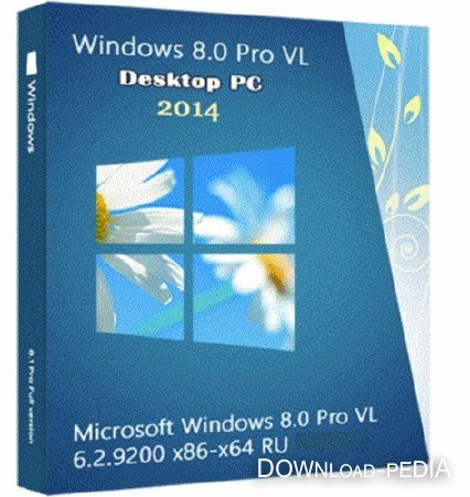 Windows 8.0 Pro VL 6.2.9200 PIP8.0 (х86/x64/2014/RUS)